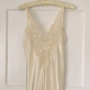 Vintage Victoria's Secret Embroidered Lace Slip
